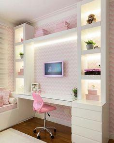 Teen girl bedroom ideas – Home Decor Designs Cute Bedroom Ideas, Girl Bedroom Designs, Room Ideas For Girls, Girls Bedroom Colors, Awesome Bedrooms, Trendy Bedroom, Dream Rooms, Dream Bedroom, New Room