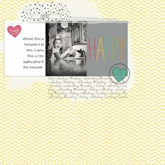 DIGITAL PROJECT LIFE BY STAMPIN UP ---Layout designed by Mindy Pitcher #PLxSU