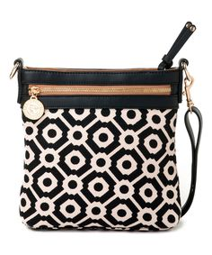 Look at this Black & White Pender Linen Shoulder Bag on #zulily today!