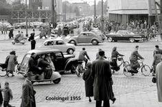 Rotterdam - Coolsingel, thv.Beursplein, richting Beijenkorf. .1955