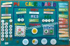 Cosiendo sonrisitas: El Calendario. Preschool Education, Classroom Activities, Math Centers, Homeschool, Games, Diy, Salvador, Gabriel, Ideas Para