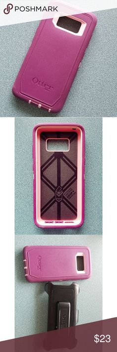 Otter box Defender For Samsung Galaxy S8 Otter box Defender For Samsung Galaxy S8. Screenless Edition Pink and Purple Only Used For a month. Otter Box does have a small scuff on the lower left corner (shown in last picture), but it is in great condition otherwise. OtterBox Other