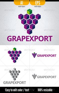 Grapexport  #GraphicRiver         Vector* Logo in 2 formats:   Layered .EPS files   Layered .AI files   Both vector files come in layers with the different options available for the logo usage, including the greyscale version. Simply toggles visibility between layers to jump to other logo options.  Document Color Mode:  CMYK   Font used:  	 Open Sans   	 *resizable without loss of quality and easy to edit.   	       Created: 18August12 GraphicsFilesIncluded: VectorEPS #AIIllustrator…