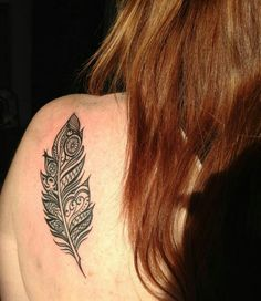 My new feather tattoo!
