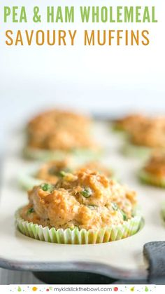 Savoury Muffins – Wholemeal Pea and Ham Healthy easy wholemeal savoury muffins perfect for kids, savory combination of cheese, frozen peas and ham Kids Cooking Recipes, Baby Food Recipes, Gourmet Recipes, Healthy Recipes, Cooking Corn, Cooking Pasta, Cooking Games, Cake Recipes, Healthy Meals For Kids