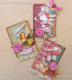 Alice in Wonderland ATCs by Teri Calia