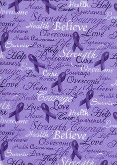 Purple Breast Cancer Relay For Life Words Cotton by scizzors Pancreatic Cancer Awareness, Alzheimers Awareness, Relay For Life, Autoimmune Disease, Crohn's Disease, Ulcerative Colitis, Rheumatoid Arthritis, Purple Ribbon, Ribbon Colors