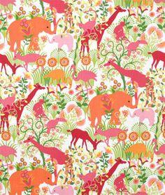 Duralee Jungle Boogie Bubblegum Fabric - $19.15 | onlinefabricstore.net