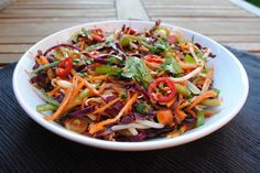 Sweet and Spicy Thai Salad - Follow these and more healthy recipes at www.hcgwarrior.com/recipes.html