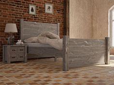 Rustykalne łóżko drewniane COUNTRY 180 cm