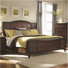 Salisbury Queen Panel Bed with Raised Design