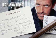 Reason 314: His handwriting