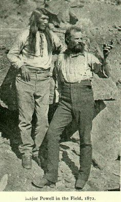 Major Powell and Indian Scout ~ In the Field ~ Colorado ~ 1872
