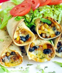 These cheesy Baked Black Bean and Sweet Potato Flautas are one of my most popular recipes ever, and for good reason too!