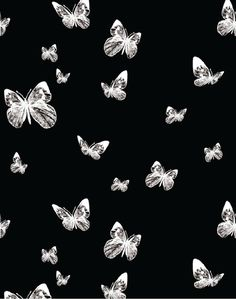 Butterfly Valley, Black & White – The Pattern Collective B&w Wallpaper, Black Background Wallpaper, Butterfly Background, Black And White Wallpaper Iphone, Cute Black Wallpaper, Black Aesthetic Wallpaper, Aesthetic Backgrounds, Aesthetic Iphone Wallpaper, Design Posters