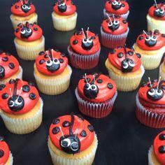 Ladybug buttercream cupcakes!