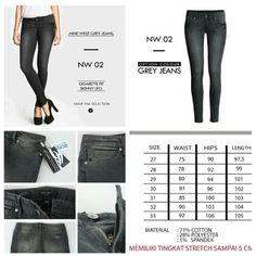 Nine wesr grey jeans IDR 165k
