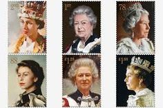 The Queen's portraits on commemorative Royal Mail stamps - 2013