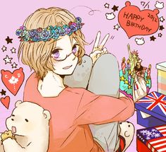 ❤٩(๑•◡-๑)۶❤                                                  - Hetalia - Canada (Matthew Williams)