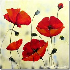 flower paintings on canvas