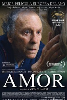 """Oscar 2 0 1 Best Foreign Language Film """"Amour""""a film by Michael Haneke. 'Palme d'or' at the Festival de Cannes with Jean-Louis Trintignant and Emmanuelle Riva Isabelle Huppert, Toronto Film Festival, Cannes Film Festival, 2012 Movie, Movie Tv, Great Films, Good Movies, Films Récents"""