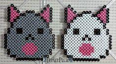 Kitty Eggs by PerlerPixie.deviantart.com on @DeviantArt Fuse Bead Patterns, Perler Patterns, Beading Patterns, Bear Patterns, Pearler Beads, Fuse Beads, Bead Crafts, Diy Crafts, Hamma Beads Ideas