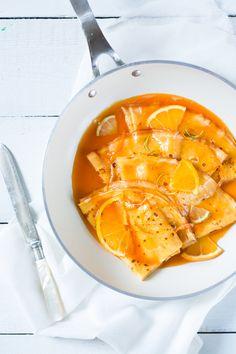 Crêpes sauce aux agrumes et vanille