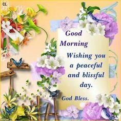 Good Morning everyone, happy Saturday, God bless♥★♥.