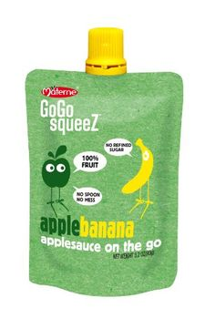 GoGo SqueeZ AppleBanana, Applesauce on the Go. These are great to pack in your child's lunch the day after they get braces!