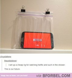How To Watch Netflix In The Shower… This Changes Everything.