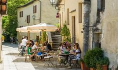 Bagno Vignoni, a village with natural thermal springs south of Siena.
