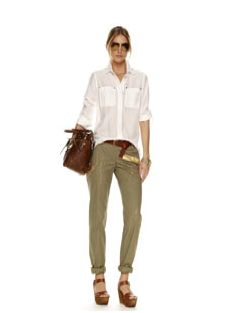 Cute safari like outfit, light for a casual day out. Michael Kors
