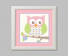 Baby Room Owl Art by CalleyFlower on Etsy, $15.00