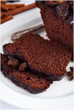 Piernik z powidłami - I Love Bake Biscuits, Musaka, Muffins, Cake Cookies, Gingerbread, Cake Recipes, Deserts, Yummy Food, Healthy Recipes