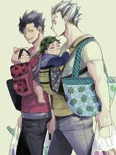 Bokuto: Little Kenma's adorable! Kuroo: Akaashi lookin really swag today!
