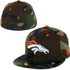 Denver Broncos 002 NFL Pop Basic 59FIFTY Collection Caps Orange