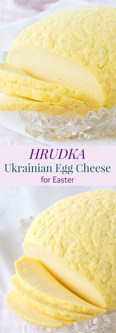 Hrudka - Ukrainian Egg Cheese for Easter - Cupcakes & Kale Chips Hrudka - my generations old family recipe for the traditional Ukrainian Egg Cheese for Easter Slovak Recipes, Ukrainian Recipes, Czech Recipes, Hungarian Recipes, Russian Recipes, Ukrainian Food, Russian Foods, Ukrainian Paska Recipe, Italian Recipes