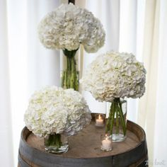 These are pretty and simple. Maybe we should do different height center pieces?