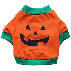 Pets Corner Market Pet Dog Vest Dog Clothes Halloween Pumpkin T-shirts Dogs Shirts Pets Shirt (Large, Orange) -- Want to know more, click on the image. (This is an affiliate link) #DogApparelAccessories