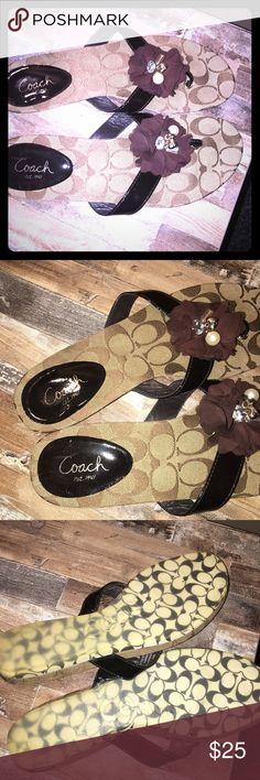 Coach Sandals Authentic Coach Flat heeled sandals 🌸🌸🌸🌸🌸 Coach Shoes Sandals