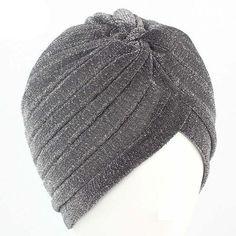 15b95a597e2 Women Bling Silver Gold Knot Twist Turban Headbands Cap - Autumn Winter  Warm Casual Streetwear Headwear Hats. New Women Indian Bonnet ...