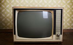 Retro Tv With Wooden Case In Room With Vintage Wallpaper And Parquet Stock Photo 132384326 : Shutterstock Marital Counseling, Marriage Rights, Wooden Case, Box Tv, Make Time, Reality Tv, Grief, Photo Editing, Stock Photos