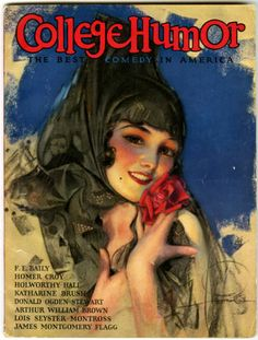 Antique College Humor Magazine July 1926 Rolf Armstrong Mantilla Veiled Pin Up | eBay