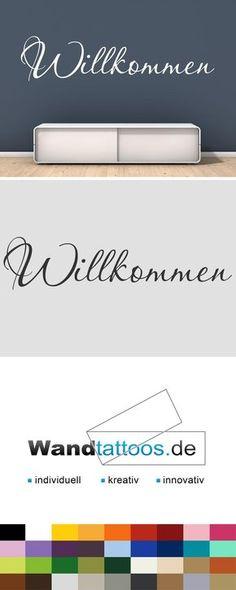 Wandtattoo Schriftzug Willkommen als Idee zur individuellen Wandgestaltung. Einfach Lieblingsfarbe und Größe auswählen. Weitere kreative Anregungen von Wandtattoos.de hier entdecken!