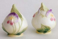 franz sweet pea salt and pepper shakers