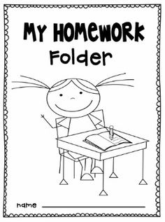Homework folder ideas