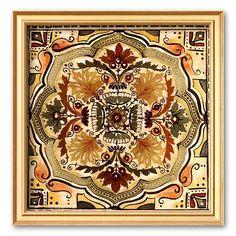 Art.com Italian Tile IV Framed Art Print by Ruth Franks