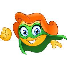Superheroine emoticon vector image on VectorStock Smiley Emoji, Big Emoji, Cute Emoji, Emoticon Love, Emoticon Faces, Smiley Faces, Animated Emoticons, Funny Emoticons, Supergirl