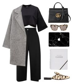 Untitled #2156 by katerina-rampota on Polyvore featuring MANGO, Public School, Gucci and Prism