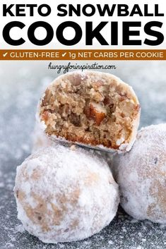 These Heavenly Keto Pecan Snowball Cookies are perfect Keto Christmas Cookies! They're incredibly good and will be the perfect addition to your holidays! And one cookie only has net carbs! Keto Cookies, Cookies Gluten Free, Cookies Et Biscuits, Keto Friendly Desserts, Low Carb Desserts, Low Carb Recipes, Comida Keto, Keto Holiday, Holiday Desserts